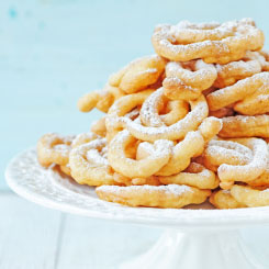 Stack of funnel cakes