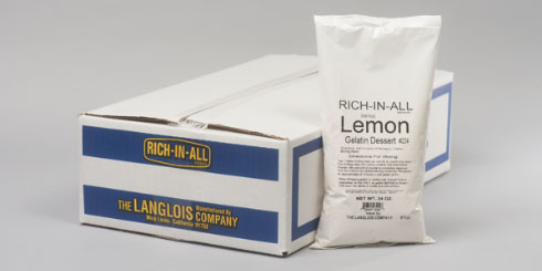 Lemon Gelatin Powder Mix Packaging