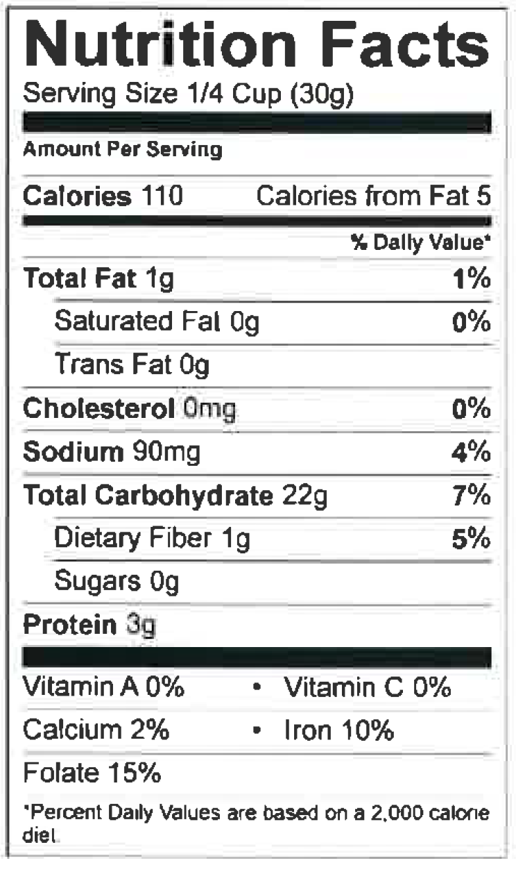 Fish and Chips Batter Nutrition Facts